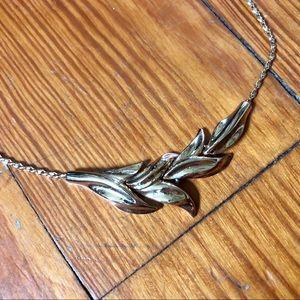 Leaf Patterned Monet Necklace